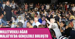 Milletvekili Ağar Malatya'da Gençlerle Buluştu
