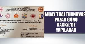 Muay Thai Turnuvası Pazar Günü Baskil'de Yapılacak