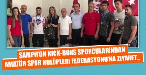 Şampiyon Kıck-Boks Sporcularından ASKF'ye Ziyaret…