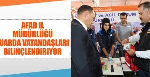 AFAD İl Müdürlüğü Fuarda Vatandaşları Bilinçlendiriyor