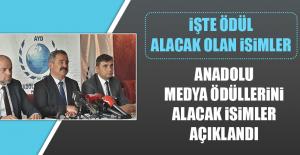 Anadolu Medya Ödüllerini Alacak İsimler Açıklandı