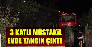 Ataşehir Mahallesi'nde 3 Katlı Müstakil Evde Yangın Çıktı