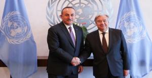 Bakan Çavuşoğlu, Bm Genel Sekreteri Guterres İle Görüştü