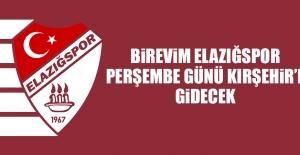 B.Elazığspor, Perşembe Günü Kırşehir'e Gidecek