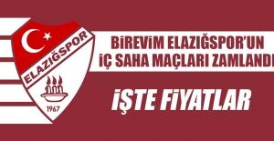 B.Elazığspor'un İç Saha Maçları Zamlandı