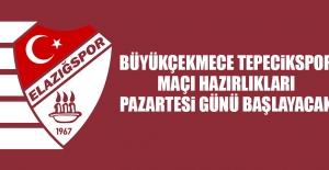 B.Tepecikspor Maçı Hazırlıkları Pazartesi Günü Başlayacak