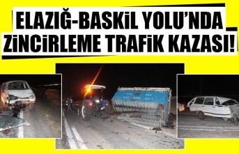 Elazığ-Baskil Yolu'nda Zincirleme Trafik Kazası!