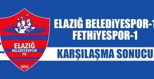 Elazığ Belediyespor 1-1 Fethiyespor