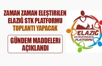 Elazığ STK Platformu Toplantı Yapacak