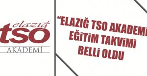 """""""Elazığ TSO Akademi"""" Eğitim Takvimi Belli Oldu"""