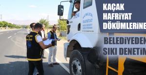 Kaçak Hafriyat Dökümlerine Belediyeden Sıkı Denetim