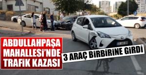 Kazada 3 Araç Birbirine Girdi