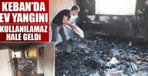 Keban'daki Yangında Ev Kullanılamaz Hale Geldi