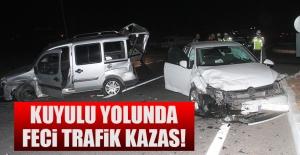 Kuyulu Yolunda Trafik Kazası! Yaralılar Var