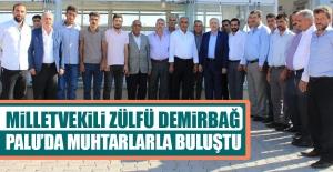 Milletvekili Demirbağ, Palu'da Muhtarlarla Görüştü
