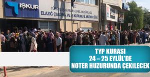 TYP Kurası, 24 – 25 Eylül'de Noter Huzurunda Çekilecek