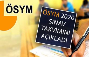 2020 ÖSYM Sınav Takvimi