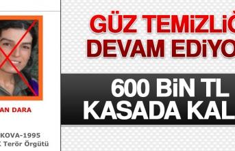 600 Bin TL Kasada Kaldı