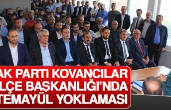 AK Parti Kovancılar İlçe Başkanlığı'nda Temayül Yoklaması