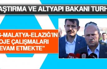 Bakan Turhan: Sivas-Malatya-Elazığ'ın Proje Çalışmaları Devam Etmekte