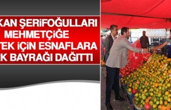Başkan Şerifoğulları Mehmetçiğe Destek İçin Esnaflara Türk Bayrağı Dağıttı
