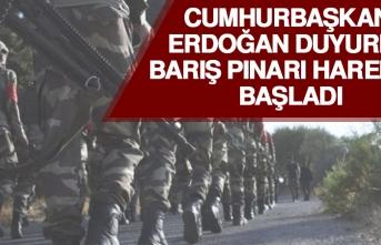 Cumhurbaşkanı Erdoğan Duyurdu! Barış Pınarı Harekatı Başladı