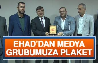 EHAD'dan Medya Grubumuza Plaket