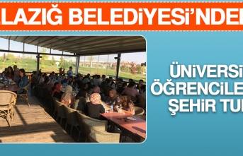 Elazığ Belediyesi'nden Üniversite Öğrencilerine Şehir Turu