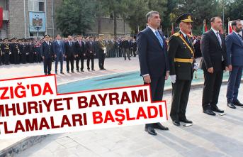 Elazığ'da Cumhuriyet Bayramı Kutlamaları Başladı