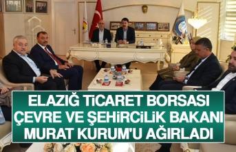 Elazığ Ticaret Borsası, Çevre ve Şehircilik Bakanı Murat Kurum'u Ağırladı