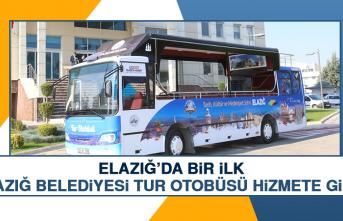 Elazığ'da İlk Olan Tur Otobüsü Hizmete Girdi