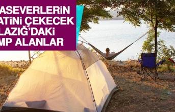 Elazığ'daki Kamp Alanları