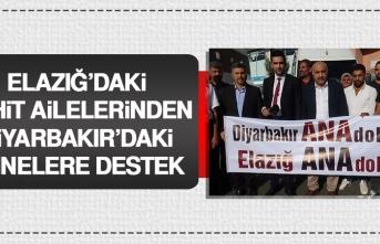 Elazığ'daki Şehit Ailelerinden Diyarbakır'daki Annelere Destek