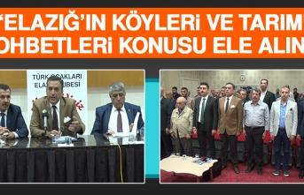 """""""Elazığ'ın Köyleri ve Tarım"""" Sohbetleri"""