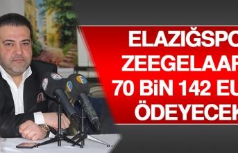 Elazığspor, Zeegelaar'e 70 Bin 142 Euro Ödeyecek