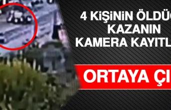 İşte 4 Kişinin Öldüğü Kazanın Kamera Kayıtları