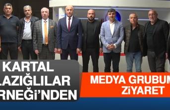 Kartal Elazığlılar Derneği'nden Medya Grubumuza Ziyaret