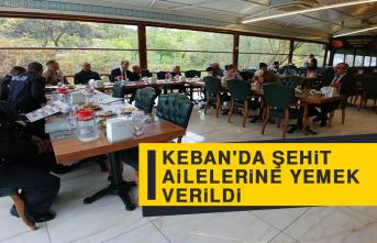 Keban'da Şehit Ailelerine Yemek Verildi