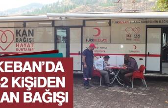 Keban'da 42 Kişiden Kan Bağışı