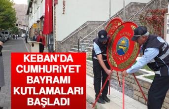 Keban'da Cumhuriyet Bayramı Kutlamaları Başladı