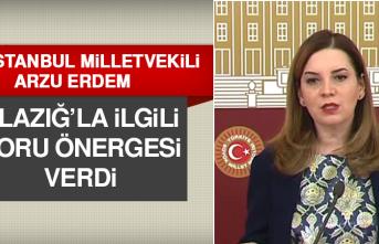 MHP İstanbul Milletvekili Erdem, Elazığ'la İlgili Soru Önergesi Verdi