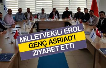 Milletvekili Erol'dan Genç ASRİAD'a Ziyaret
