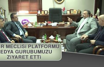 Şehir Meclisi Platformu Medya Gurubumuzu Ziyaret Etti