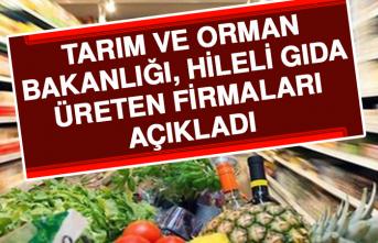 Tarım Ve Orman Bakanlığı, Hileli Gıda Üreten Firmaları Açıkladı.1211 Ürün Sakıncalı!!!