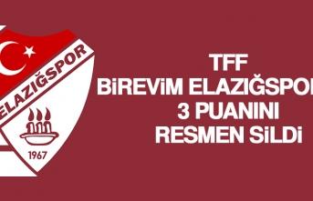 TFF, B.Elazığspor'un 3 Puanını Resmen Sildi