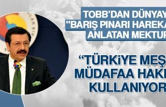 """TOBB'dan Dünyaya """"Barış Pınarı Harekatını"""" Anlatan Mektup"""