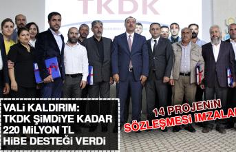 Vali Kaldırım: TKDK Şimdiye Kadar 220 Milyon TL Hibe Desteği Verdi