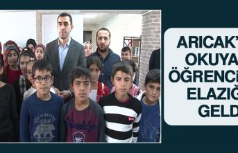 Arıcak'ta Okuyan Öğrenciler Elazığ'a Geldi