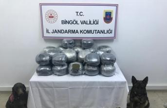 Bingöl'de 60 kilogram esrar ele geçirildi