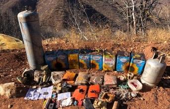 Bingöl'de terör örgütü PKK'ya ait patlayıcı madde ve mühimmat ele geçirildi